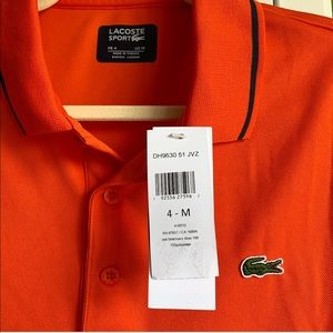 NWT Lacoste Ultra Dry Polo